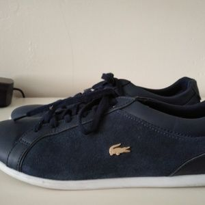 LACOSTE BAYLESS BLUE SUEDE & LEATHER SHOES